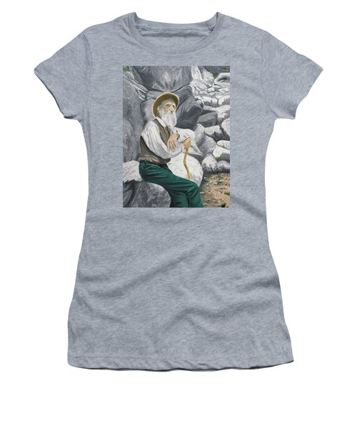 Women's T-Shirt featuring the painting Hero Of The Land by Kevin Daly