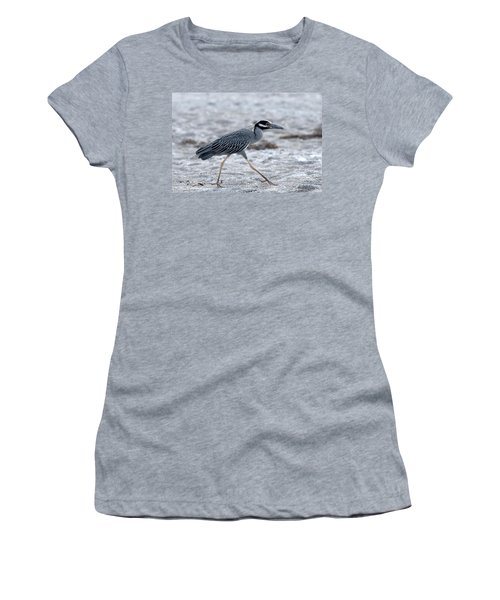 Yellow-crowned Night Heron On A Mission Women's T-Shirt (Athletic Fit)
