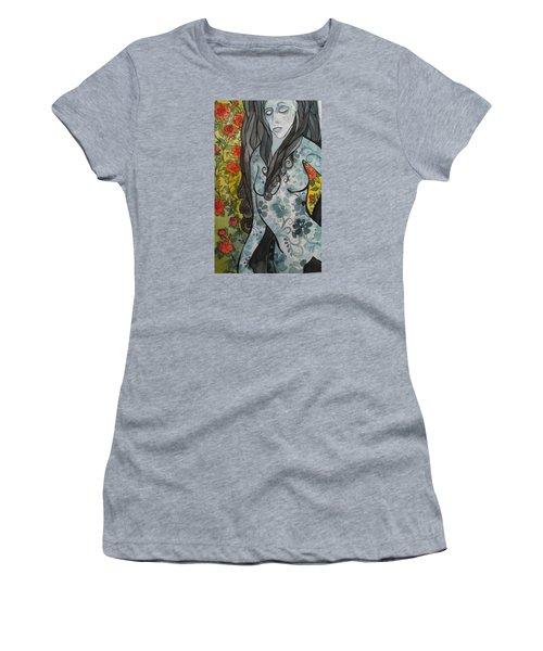 Hesitation Women's T-Shirt (Junior Cut) by Claudia Cole Meek