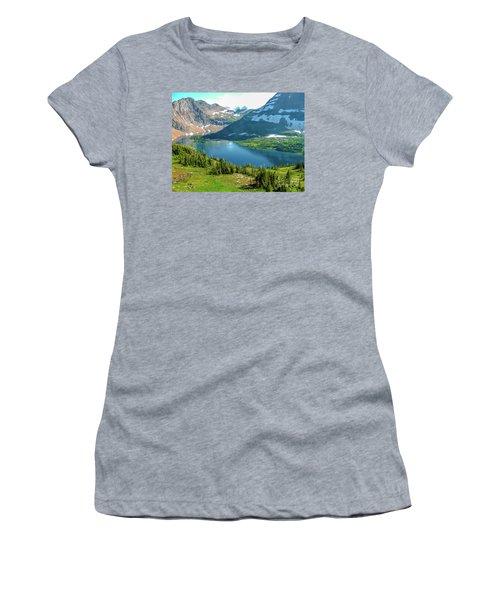 Hidden Lake Glacier National Park Women's T-Shirt (Athletic Fit)
