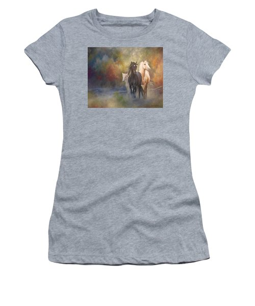 Hiding In The Mist Women's T-Shirt (Athletic Fit)