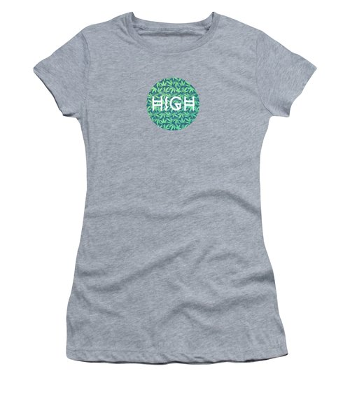 High Typo  Cannabis   Hemp  420  Marijuana   Pattern Women's T-Shirt
