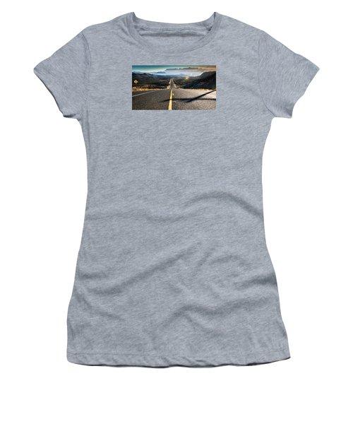 Highway 170 To Big Bend Women's T-Shirt (Junior Cut) by Allen Biedrzycki