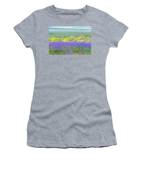 Hike To The Top Of Temblor Range Women's T-Shirt (Junior Cut) by Marc Crumpler