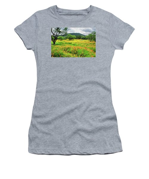 Hill Country Wildflowers Women's T-Shirt (Junior Cut) by Lynn Bauer