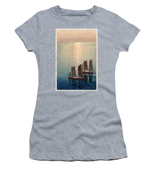 Hiroshi Yoshida, Hikaru Umi, The Sparkling Sea, 1926 Women's T-Shirt