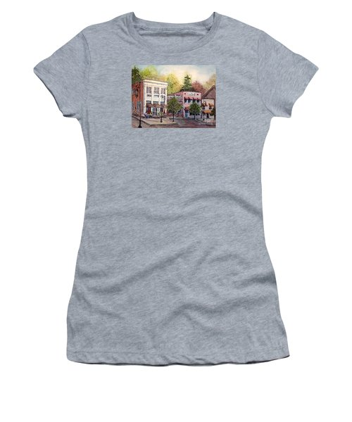Historic Blue Ridge Shops Women's T-Shirt (Junior Cut) by Gretchen Allen