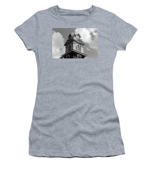 Historic Courthouse Steeple In Bw Women's T-Shirt