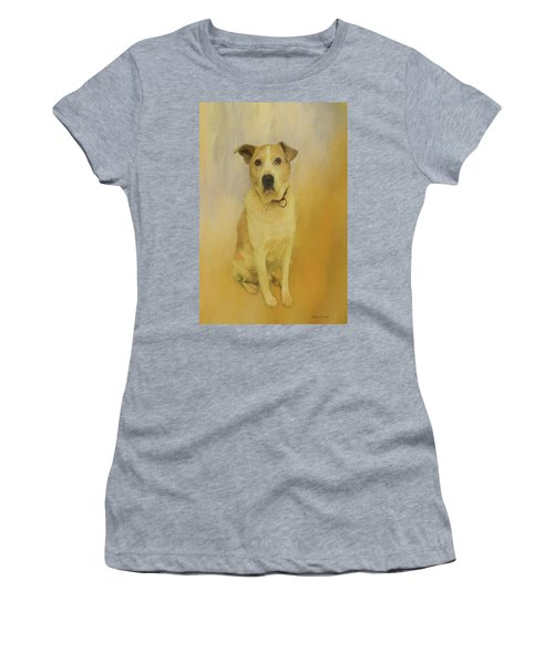 Women's T-Shirt (Athletic Fit) featuring the photograph Hobbit The Harrier Hound by Bellesouth Studio