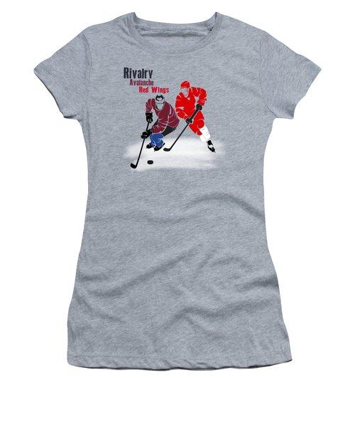 Hockey Rivalry Avalanche Red Wings Shirt Women's T-Shirt (Junior Cut) by Joe Hamilton