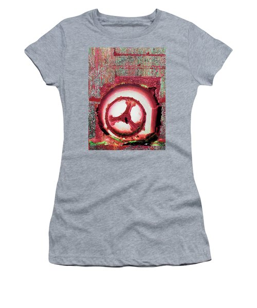 Women's T-Shirt (Junior Cut) featuring the mixed media Hole Opposite by Tony Rubino