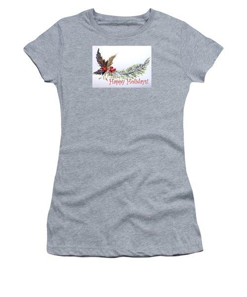 Holidays Card - 2 Women's T-Shirt (Junior Cut) by Dorothy Maier