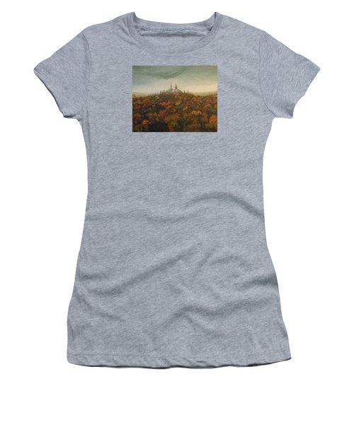Holy Hill Rain Storm Women's T-Shirt (Junior Cut) by Dan Wagner