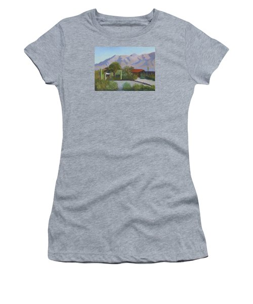 Home In The Catalinas Women's T-Shirt (Junior Cut) by Susan Woodward
