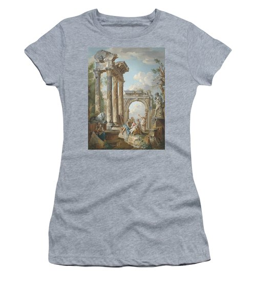 Homily Of An Apostle In Roman Ruins Women's T-Shirt