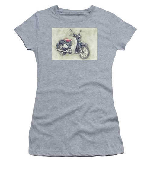 Honda Super Cub 1 - Motor Scooters - 1958 - Motorcycle Poster - Automotive Art Women's T-Shirt