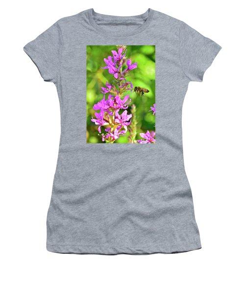 Honey Bee In Flight Women's T-Shirt