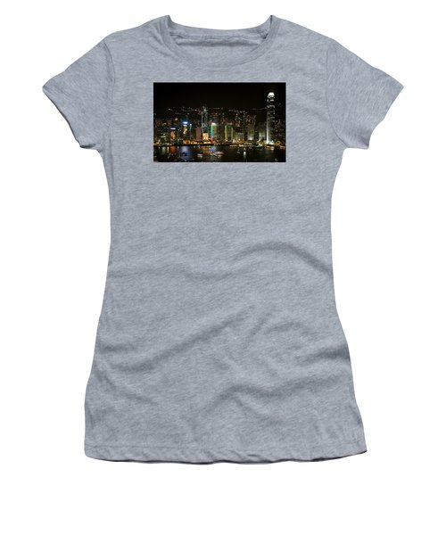 Hong Kong On A December Night Women's T-Shirt (Athletic Fit)
