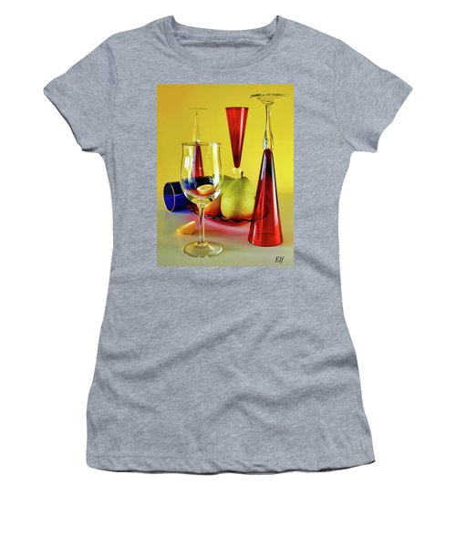 Honor To  Mondrian  Women's T-Shirt (Athletic Fit)