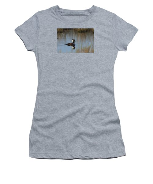 Hooded Merganser In The Early Morning Light Women's T-Shirt