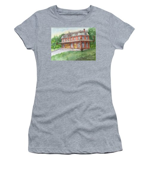 Hopewell Nj Train Station Women's T-Shirt (Junior Cut) by Lucia Grilletto
