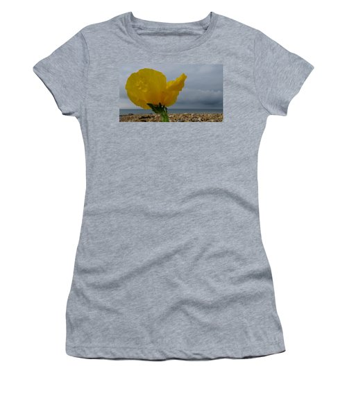 Horned Poppy By The Sea Women's T-Shirt (Athletic Fit)