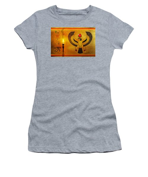 Horus Falcon God Women's T-Shirt (Athletic Fit)