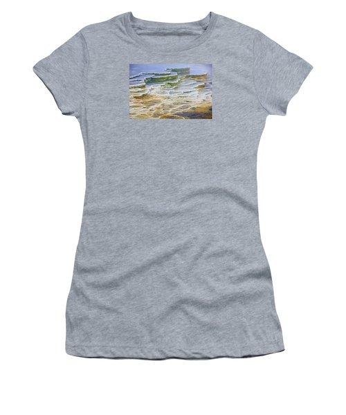 Women's T-Shirt (Junior Cut) featuring the photograph Hot Springs Runoff by Gary Lengyel