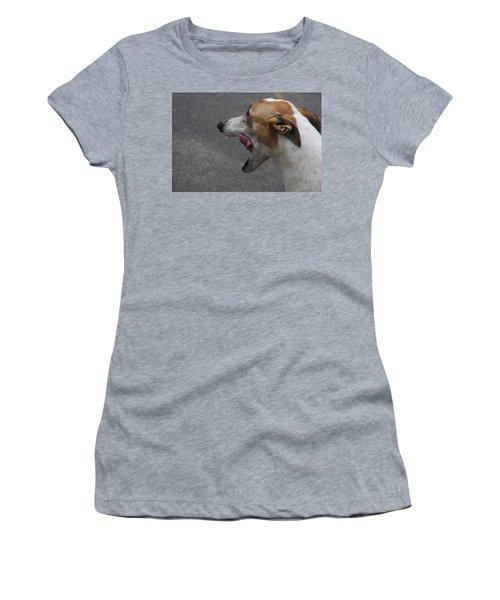Women's T-Shirt (Junior Cut) featuring the photograph Hound Portrait by Vadim Levin