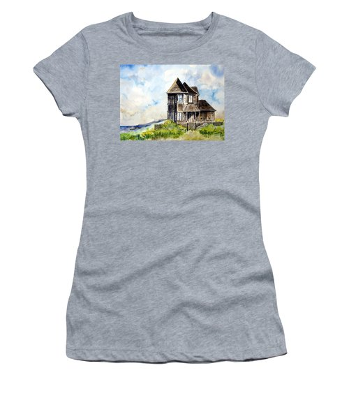 House On Little Lake Street Mendocino Women's T-Shirt (Athletic Fit)