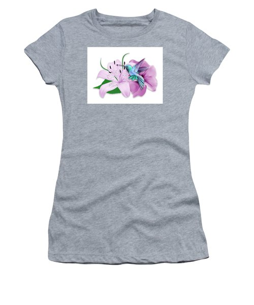 Women's T-Shirt (Athletic Fit) featuring the mixed media Hovering by Marvin Blaine