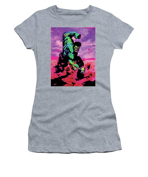 Hulk Smash Women's T-Shirt (Athletic Fit)