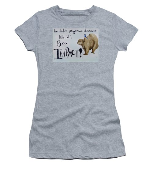 Humboldt Progressive Democrats Women's T-Shirt (Athletic Fit)