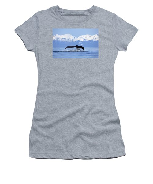 Women's T-Shirt featuring the photograph Humpback Whale Megaptera Novaeangliae by Konrad Wothe