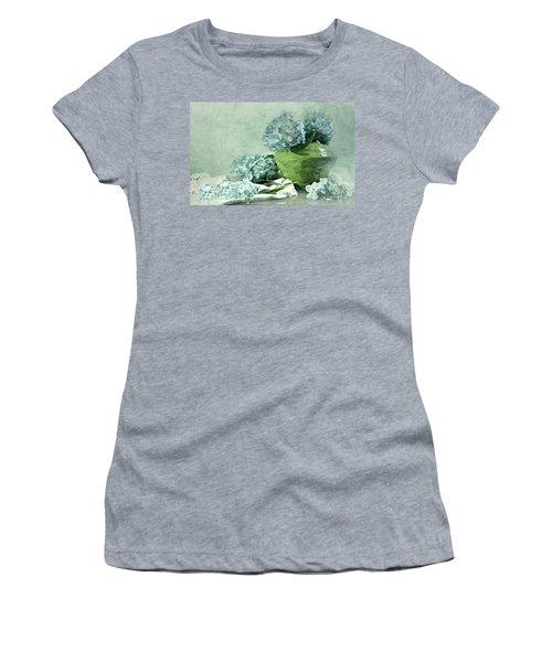 Hydra Blues Women's T-Shirt (Junior Cut) by Diana Angstadt