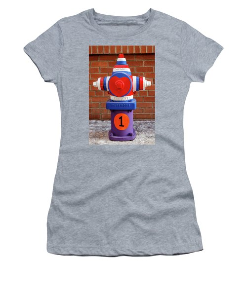 Women's T-Shirt (Junior Cut) featuring the photograph Hydrant Number One by James Eddy