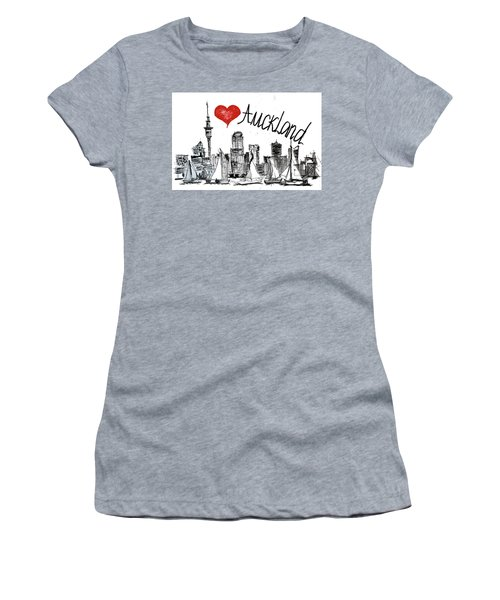 I Love Auckland  Women's T-Shirt (Junior Cut) by Sladjana Lazarevic