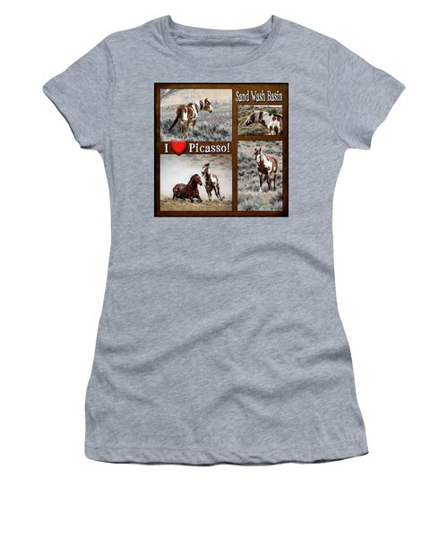 I Love Picasso Collage Women's T-Shirt (Junior Cut) by Nadja Rider