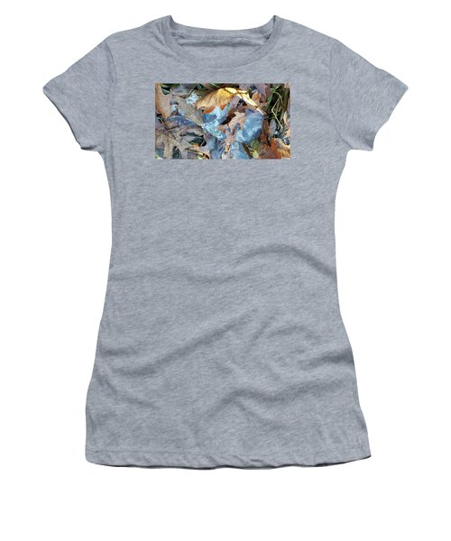 Ice And Fallen Leaves Women's T-Shirt