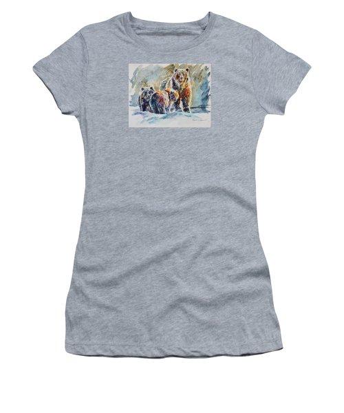 Ice Bears Women's T-Shirt (Junior Cut) by P Maure Bausch