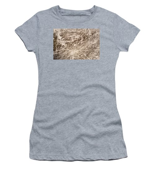 Women's T-Shirt (Junior Cut) featuring the photograph Ice Skating Marks by John Williams