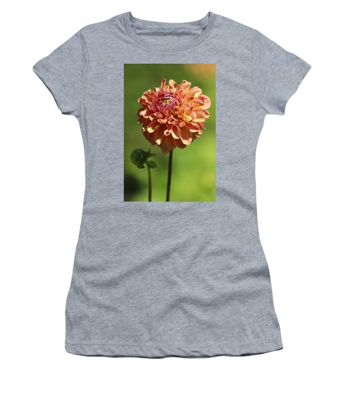 Iced Tea Dahlia In Marzipan And Milano Tones Women's T-Shirt (Athletic Fit)