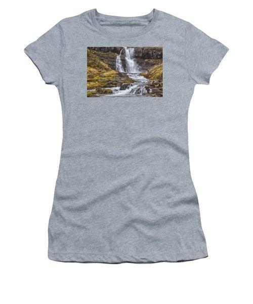Iceland Fjord 2 Women's T-Shirt (Junior Cut) by Kathy Adams Clark