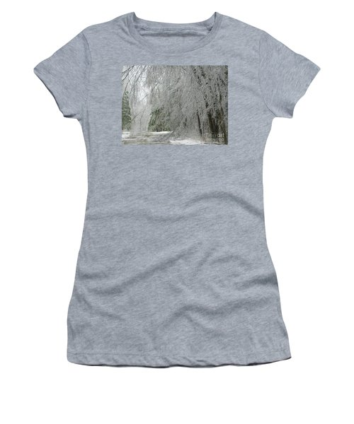 Icy Street Trees Women's T-Shirt