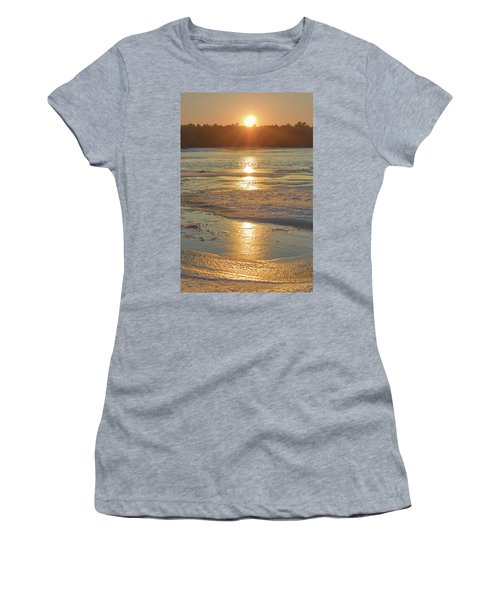 Icy Sunset Women's T-Shirt (Athletic Fit)