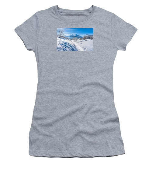 Idyllic Landscape In The Bavarian Alps, Germany Women's T-Shirt (Athletic Fit)