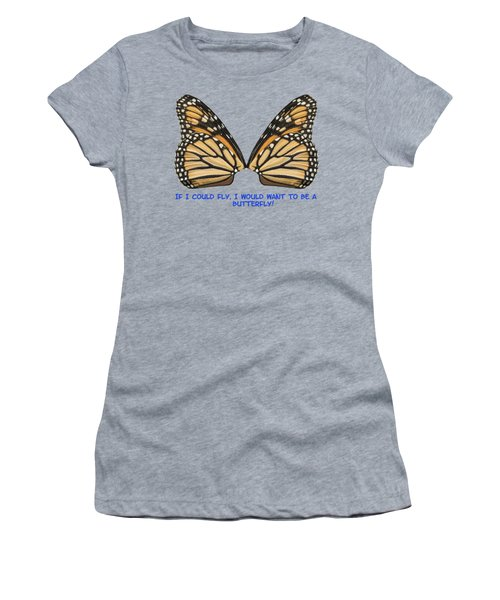 If I Could Fly Women's T-Shirt (Junior Cut) by Thomas Young