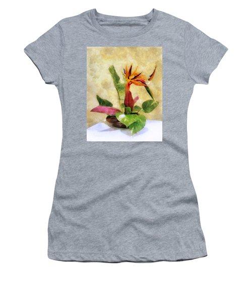 Ikebana Bird Of Paradise Women's T-Shirt (Athletic Fit)