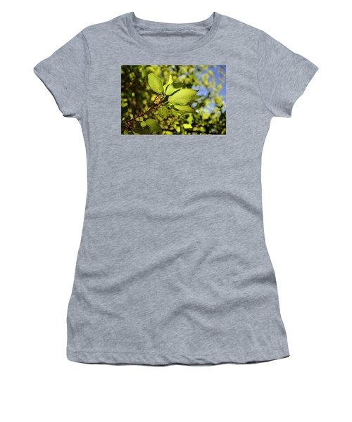 Illuminated Leaves Women's T-Shirt (Athletic Fit)