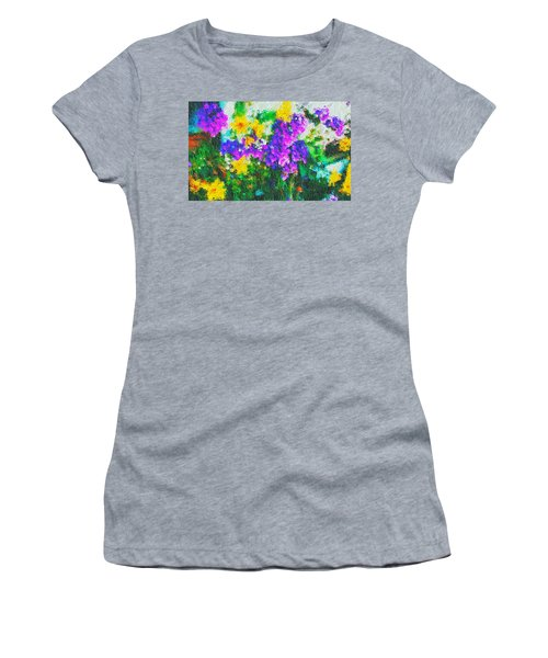 Impressionist Floral Women's T-Shirt (Athletic Fit)